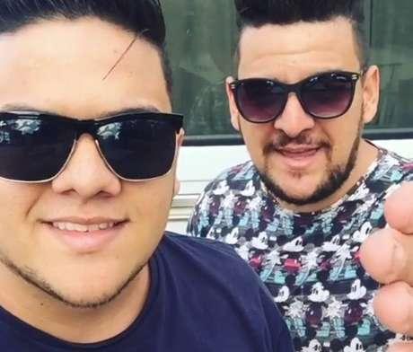 A dupla Fabio e Guilherme.