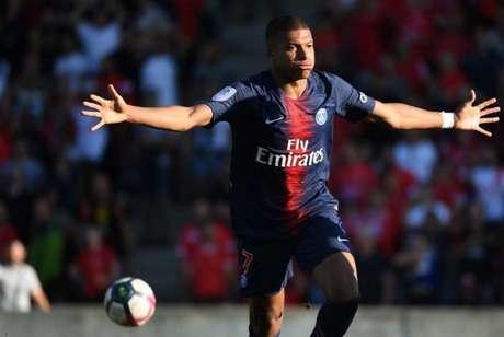 Mbappé é o artilheiro do PSG no Campeonato Francês, com nove gols (Foto: Pacal Guyot / AFP)
