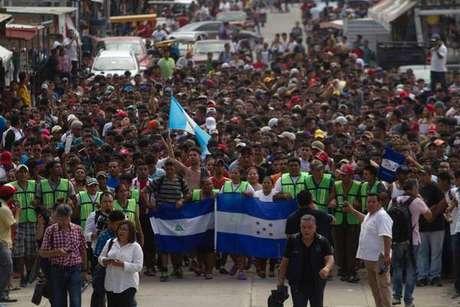 Caravana está em Tapachula, no México.