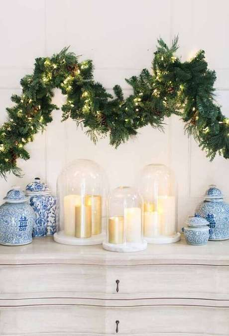 36. Luzes de natal para decoração clean – Foto: Pinterest
