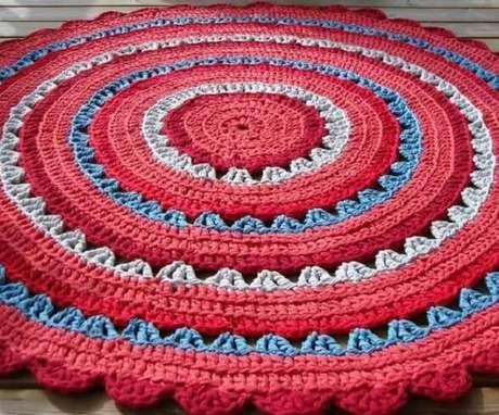 24- O Tapete de crochê redondo é um artesanato valorizado no mercado. Fonte: Huuto