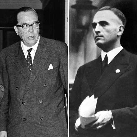 Georg Duckwitz (à esquerda) e Werner Best