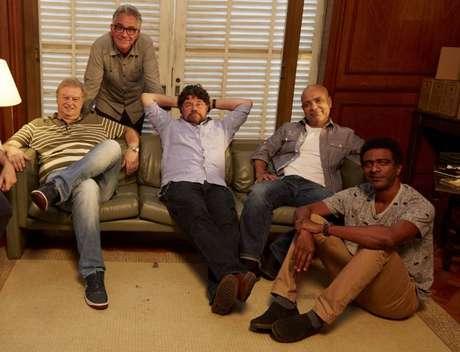 Beto Silva, Hubert Aranha, Marcelo Madureira, Claudio Manoel e Helio de la Peña em foto de 2016.