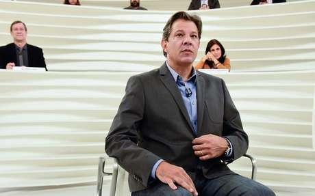 O candidato à presidência da República, Fernando Haddad participou do programa Roda Viva, na TV Cultura em São Paulo (SP), nesta segunda-feira (22)