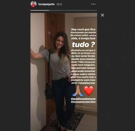 Paquetá desmentiu boatos de romance com mulher de Diego Alves (Foto: Reprodução/ Instagram)