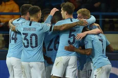 Manchester City domina e vence o Shakhtar pela Liga dos Campeões (Foto: GENYA SAVILOV / AFP)