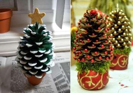5. Pinhas podem ser transformadas em mini árvores de natal. Foto de Emerson Smith