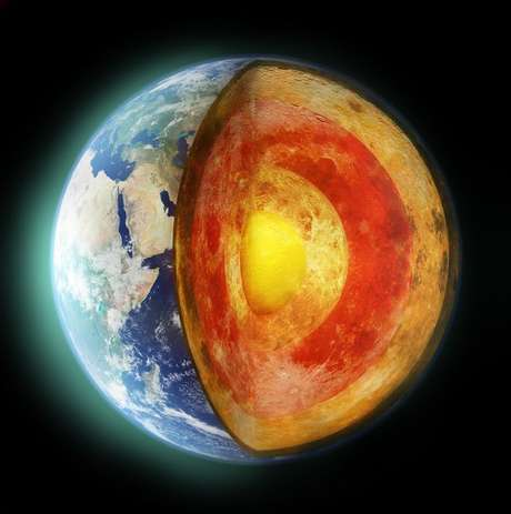 A crosta da Terra flutua sobre o magma