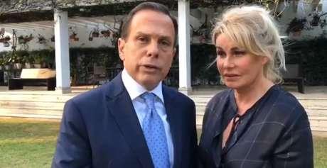 João Doria ao lado da mulher, Bia, em vídeo divulgado nas redes sociais do tucano