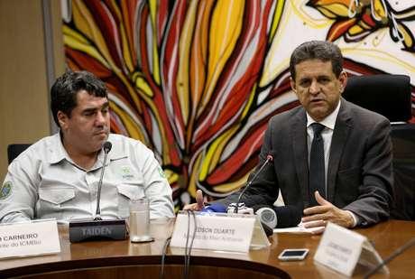 Risco.Presidente do ICMBio(à esquerda)e Duarte estão preocupados com conflitos na região