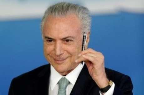 Presidente Michel Temer durante cerimônia em Brasília