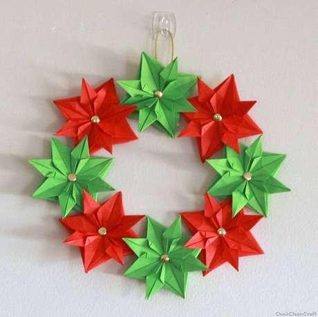 10- Artesanato de Natal de Origami