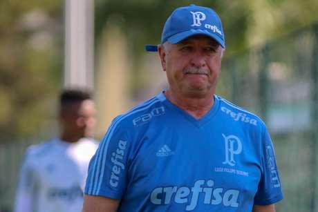 O técnico do Palmeiras, Luiz Felipe Scolari