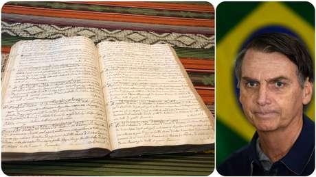 Registros da paróquia de Anguillara do batizado de Vittorio Bolzonaro, bisavô do candidato à Presidência