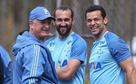 Fred, em encontro com Felipão, seu treinador na Seleção Brasileira- Cesar Greco