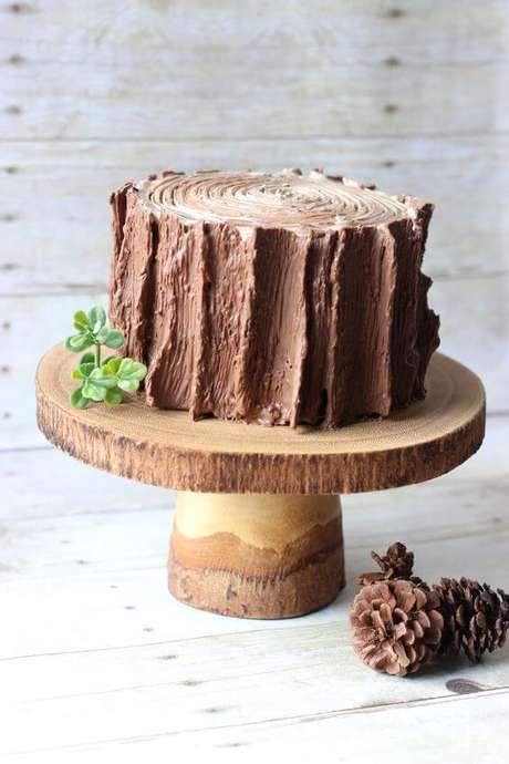 """10. Um bolo jardim encantado """"simples"""", mas cheio de encanto. Foto de Bushka Cakery"""
