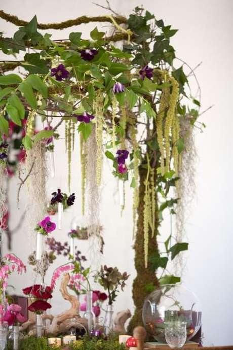 51. Festa jardim encantado com decoração natural. Foto de Pinterest