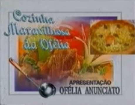 Abertura do'Cozinha Maravilhosa da Ofélia' na Band, no ano de 1995.