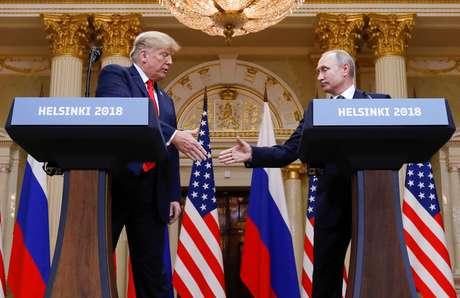 Cúpula entre Trump e Putin em Helsinque 16/07/2018 REUTERS/Kevin Lamarque