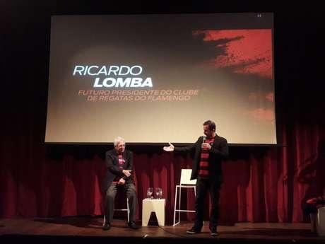 Ricardo Lomba apresentou suas propostas para o cargo de presidente do Flamengo (Foto: Alexandre Araújo)
