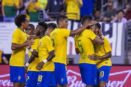 Seleção Brasileira em amistoso contra o Estados Unidos