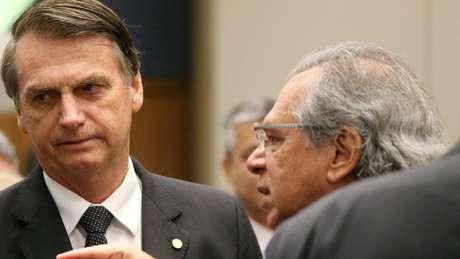 Bolsonaro e Paulo Guedes, cotado para ser um 'superministro' da Economia