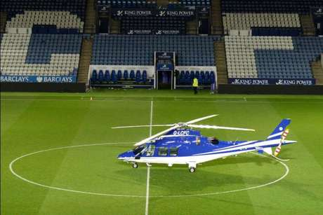 Helicóptero do dono do Leicester, que caiu no último sábado (Foto: Reprodução / Twitter)