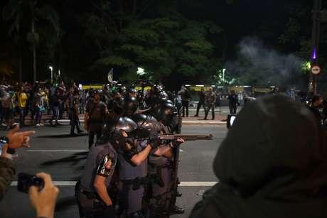 Policiais militares da Tropa de Choque