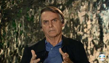 Jair Bolsonaro em entrevista ao Jornal Nacional