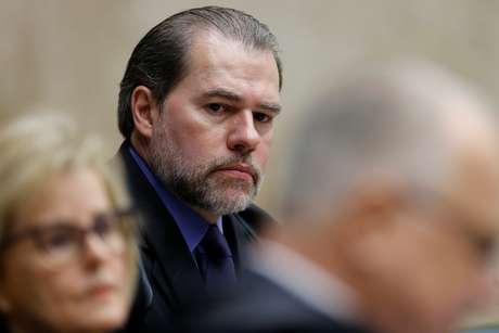 Presidente do STF, Dias Toffoli, durante sessão da corte 04/04/2018 REUTERS/Adriano Machado