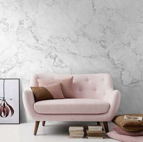 1- O efeito marmorato proporciona requinte e elegância ao ambiente. Fonte: Idea Brasil