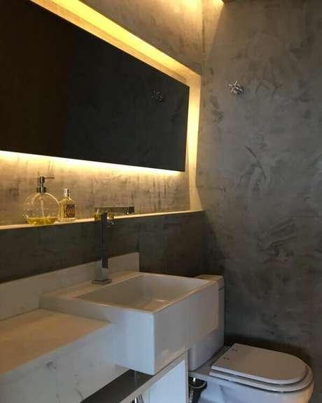 44- Em ambientes requintados o marmorato é um revestimento que serve de opção rápida de aplicação. Fonte: Pinterest