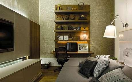 65- O marmorato foi aplicado nas paredes para compor um visual moderno ao ambiente. Fonte: Get Ninjas