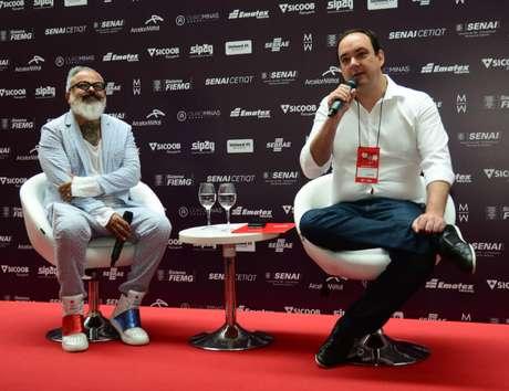 Ronaldo Fraga e Flávio Roscoe (Foto: Sebastião Jacinto Júnior)