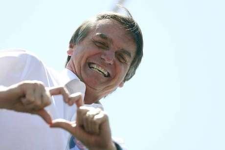 Jair Bolsonaro durante ato de campanha em Brasília