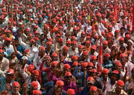 Agricultores têm protestado contra as condições de crédito e os preços das colheitas
