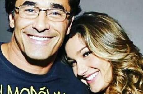 Luciano Szafir ao lado de sua filha, Sasha Meneghel