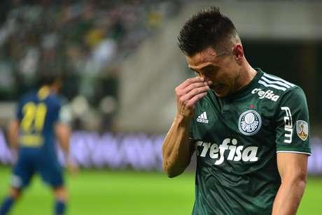 Willian, do Palmeiras, na partida contra o Boca Juniors