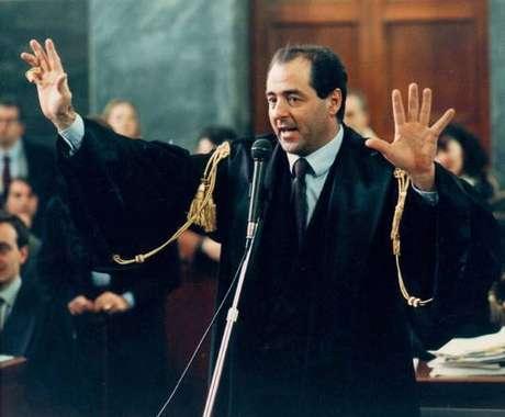 Antonio Di Pietro em uma imagem de 1995