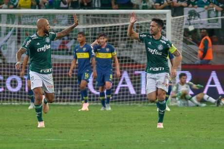 Luan, do Palmeiras, comemora gol