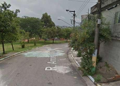 Rua Arroio da Seca, na zona norte de São Paulo, onde adolescente foi morto durante abordagem policial