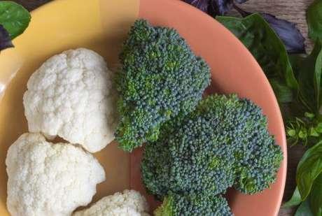 Couve-flor e brócolis