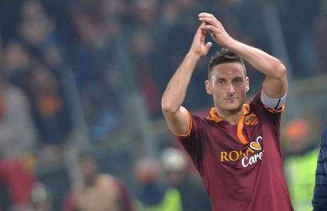 Totti se despediu dos gramados no fim da temporada 2016/17