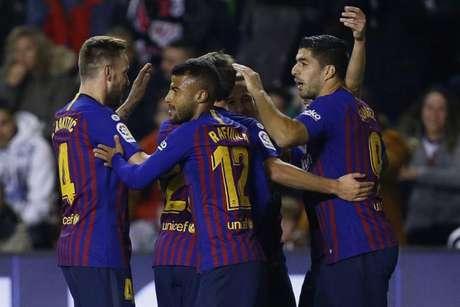 Suárez marcou duas vezes e se tornou o artilheiro isolado da La Liga (BENJAMIN CREMEL / AFP)