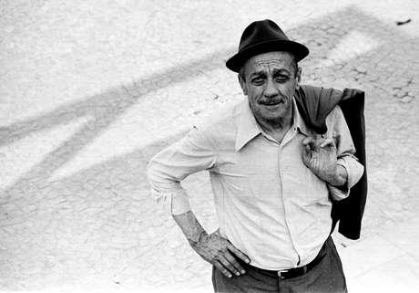 O sambista Adoniran Barbosa, em 1978