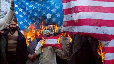 EUA foram alvo de manifestações ocorridas no fim de semana no Irã