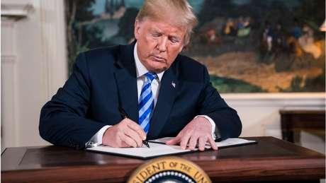 Donald Trump abandonou em maio o acordo nuclear com o Irã que havia sido assinado por Barack Obama