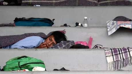 A chegada dos migrantes à Cidade do México é considerada um ponto crucial na trajetória do grupo
