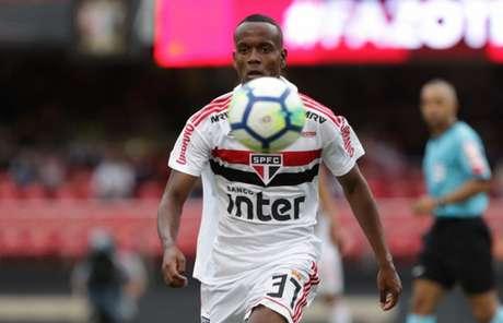 Helinho fez sua estreia como profissional no último fim de semana e marcou o segundo gol do São Paulo na partida (Rubens Chiri/saopaulofc.net)