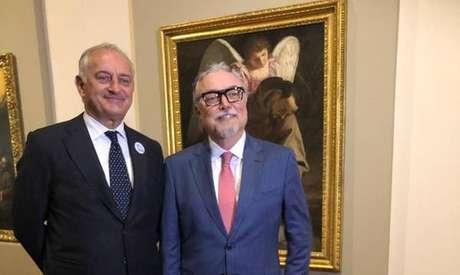 Embaixador da Itália no Brasil, Antonio Bernardini, e o Presidente da Casa Fiat de Cultura, João Batista Ciaco